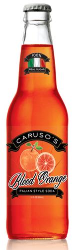Caruso's Legacy Blood Orange Italian-Style Soda in 12 oz. glass bottles for Sale