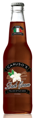 Caruso's Legacy Dark Cream Italian Styel Soda in 12 oz. glass bottles for Sale