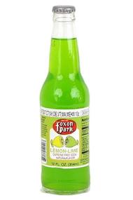 Foxon Park Lemon-Lime Soda in 12 oz. glass bottles for Sale at SummitCitySoda.com