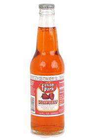 Foxon Park Strawberry Soda in 12 oz. glass bottles for Sale at SummitCitySoda.com