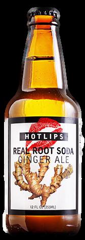 Hotlips Ginger Ale in 12 oz. glass bottles for Sale