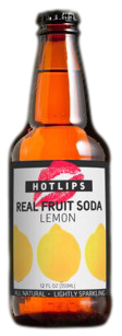 Hotlips Lemon Soda in 12 oz. glass bottles for Sale