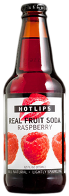 Hotlips Raspberry Soda in 12 oz. glass bottles for Sale