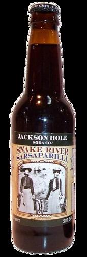 Jackson Hole Snake River Sarsaparilla in 12 oz. glass bottles for Sale
