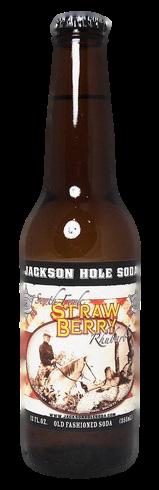 Jackson Hole Strawberry Rhubarb Soda in 12 oz. glass bottles for Sale