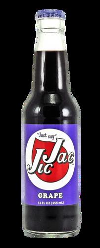Jic Jac Grape Soda in 12 oz. glass bottles for Sale
