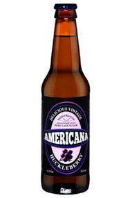 Americana Huckleberry Soda in 12 oz. glass bottles for Sale