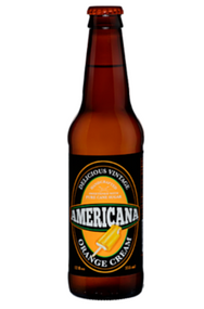 Americana Orange Cream Soda in 12 oz. glass bottles for Sale
