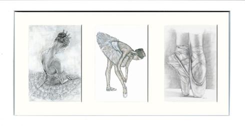White Framed Triptych (Three 4x6 inch prints)