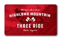 3 Ride Card 2018