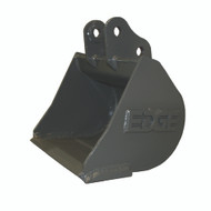 "12"" (.54 ft³, .015 m³) NO TEETH Smooth Heavy Duty Bucket for Takeuchi TB108 Excavator"