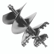 """RSQT 36"""" (914 mm) Tree & Shrub Rock Auger Bit, Hex, Conical Teeth, Conical Point - CE"""