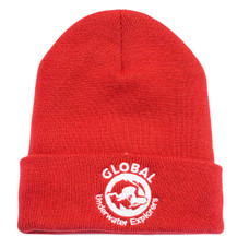 GUE Red Foldover Beanie
