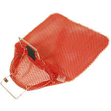 "Mesh Collection bag with Galvanized Wire Handles-- Red 15"" x 20"""