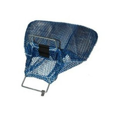 "Mesh Collection bag with Galvanized Wire Handles-- Blue 10"" x 15"""