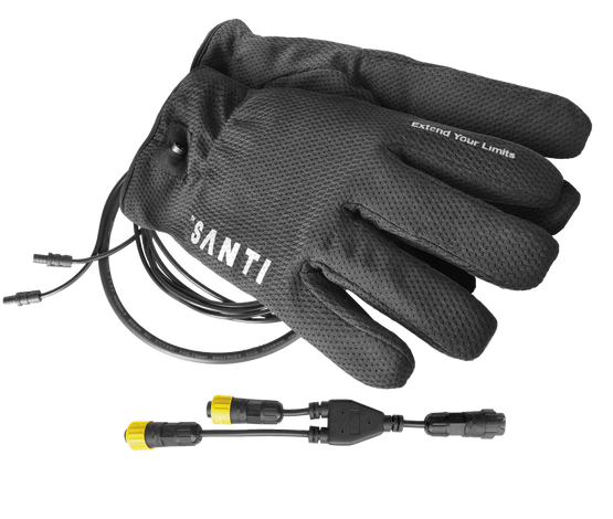 Gloves and connector