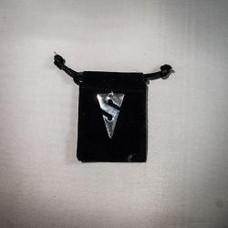 Line Arrow Pendant, Sterling Silver