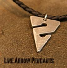 Line Arrow Necklace, Pewter