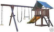 PLAY FORT SWING SET Paper Patterns BUILD WOOD PLAY GROUND IN YARD Easy DIY Plans