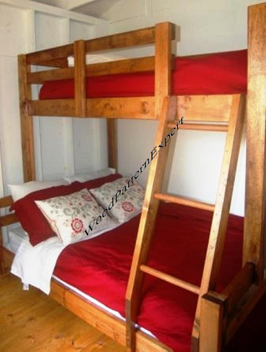 Bunk bed queen over king or full over queen or twin over 2 twin beds make a queen