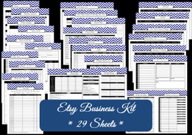 DARK BLUE - Business Planner - 29 Sheets - INSTANT DOWNLOAD