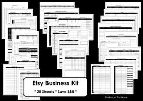 BLACK Business Planner - Instant Download