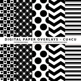 "Digital Paper Overlays - 12"" x 12"" and 8.5 x 11"" (Set 2) INSTANT DOWNLOAD"