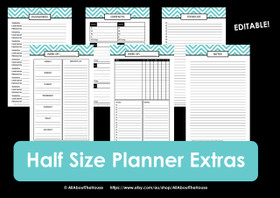 HALF SIZE Chevron Planner Extras - INSTANT DOWNLOAD