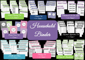GREEN - Household Binder - Instant Download