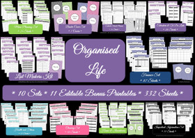 MULTICOLOURED - Organized Life - EDITABLE - Instant Download