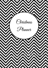 Christmas Planner - EDITABLE - Chevron Black - INSTANT DOWNLOAD