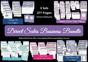 Direct Sales Business Planner Bundle - LIGHT BLUE - EDITABLE - Instant Download