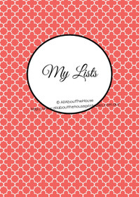 Quatrefoil Pink 3 - EDITABLE - List Makers Kit - Instant Download