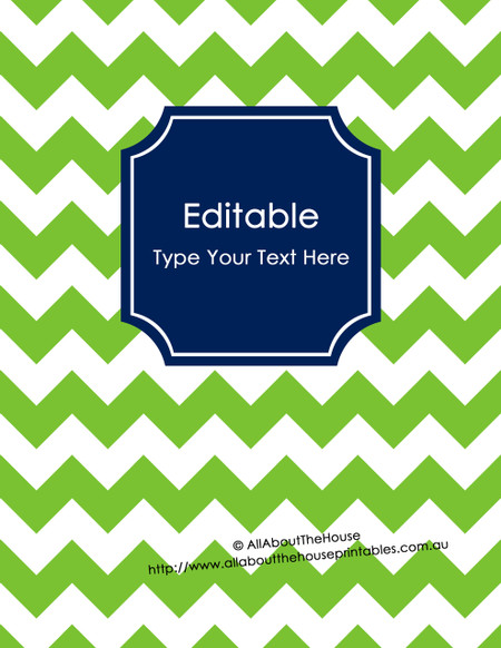 editable binder cover - letter size  8 5 x 11 u0026quot   - style 5 - 40  green   21  navy