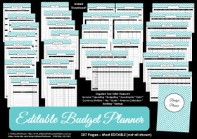 EDITABLE GREEN Budget Planner Printables - Instant Download