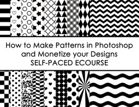 ECOURSE - How to make patterns in photoshop and monetize your designs