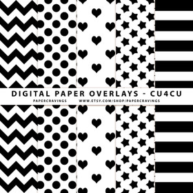 "Digital Paper Overlays - 12"" x 12"" and 8.5 x 11"" (Set 7) INSTANT DOWNLOAD"