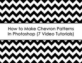 ECOURSE - How to make chevron patterns in photoshop