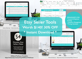 Etsy Seller Tools Ebook + Spreadsheets Bundle