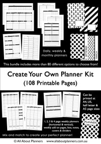 Create your own Planner Kit - Instant Download