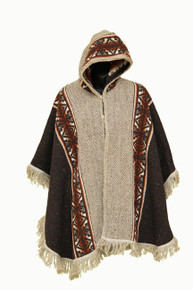 Poncho Women Black and Grey