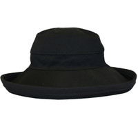 Black Cotton - Wide Brim - The Noosa Hat