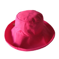 Hot Pink Cotton - Wide Brim - The Noosa Hat