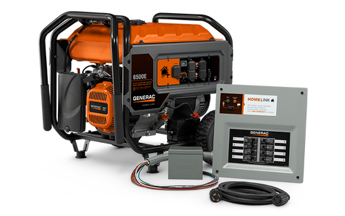 Generac Homelink 6500e Watt Portable Generator With Upgradeable Manual Transfer Switch 6865