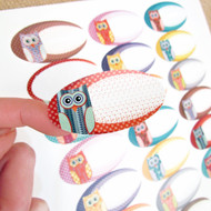 54 Cute Owl Design Weatherproof Poly Labels for Essential Oil Products