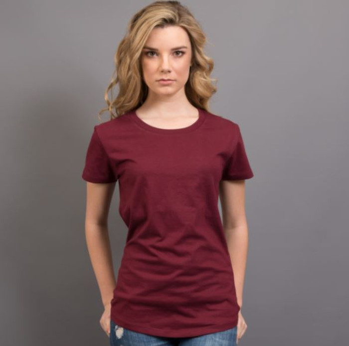 Ladies Surf T-Shirt  (Maroon)