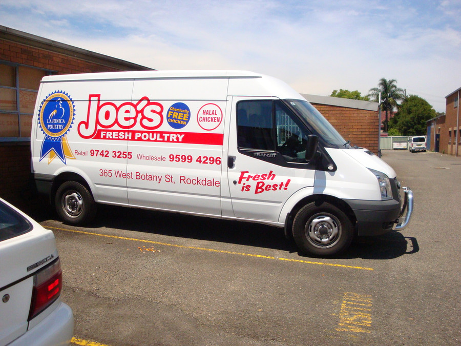 Joes Poultry Van