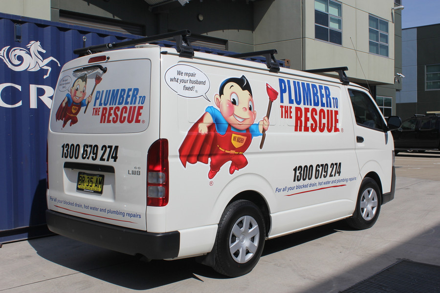 Plumber to the Rescue Van Signage