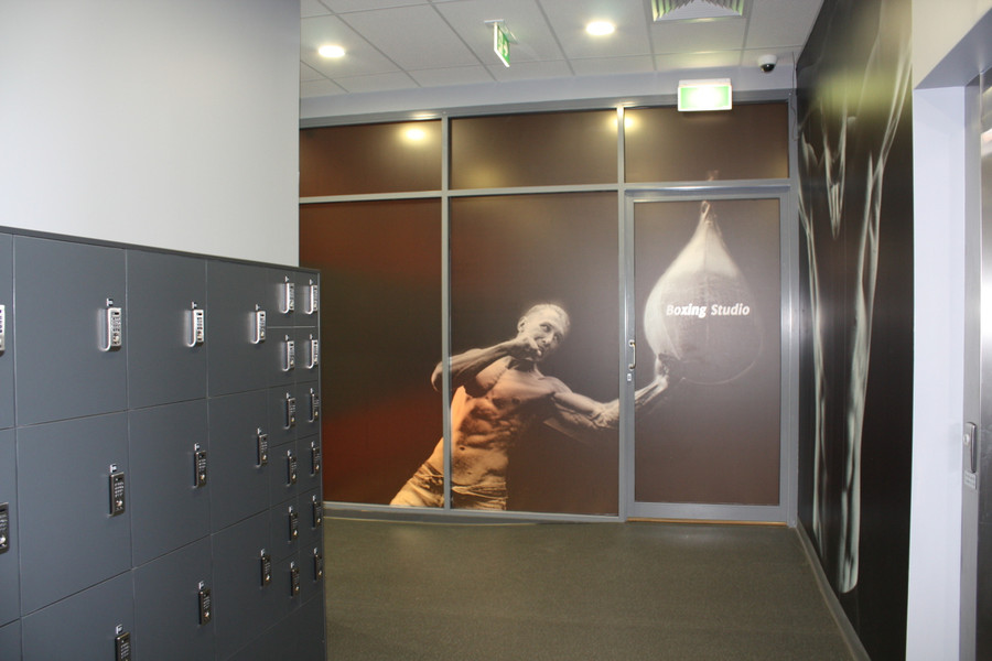 Fitness Studio Frost Print Crystal Digital Print