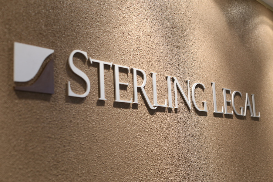 Sterling Legal Aluminium 3D Sign